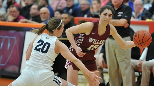 Willard's Cassie Crawford saw her high school career come to an end in an Elite 8 loss to Napoleon on Friday night at Mansfield Senior High School.