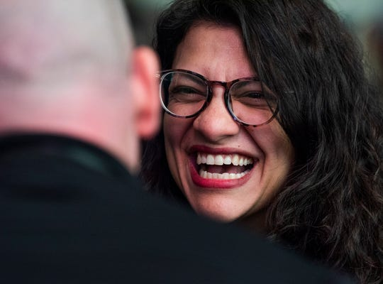 Representative Rashida Tlaib at First Baptist Church during the 2020 Congressional Civil Rights Pilgrimage in Montgomery, Ala., on Saturday March 7, 2020.