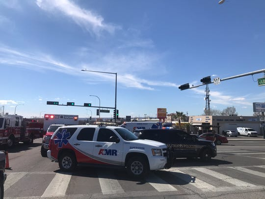 A portion of Lohman Avenue was closed briefly on as Las Cruces police responded to reports of a hit-and-run crash shortly before 2 p.m. on Saturday, March 7, 2020.