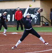 The New Mexico State softball team beat Oregon State on Saturday in the Aggies second victory over a Pac 12 team in as many days.