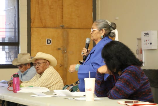 The New Mexico Environment Department heard comments from farmers about challenges they face when selling produce because of stigma from the Gold King Mine spill on March 5 at the Shiprock Chapter house.