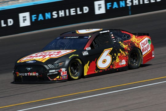 AVONDALE, ARIZONA - MARCH 06:  Ross Chastain, driver of the #6 Oscar Mayer Ford,practices during practice for the NASCAR Cup Series FanShield 500 at Phoenix Raceway on March 06, 2020 in Avondale, Arizona. (Photo by Chris Graythen/Getty Images)