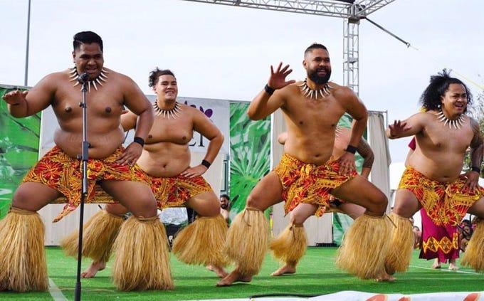 Performers from local dance school Tamali'i Polynesian Entertainment take part in the Arizona Aloha Festival.