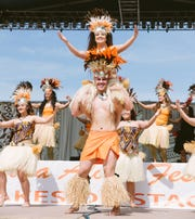 Tahitian dancers at the Arizona Aloha Festival in Tempe.