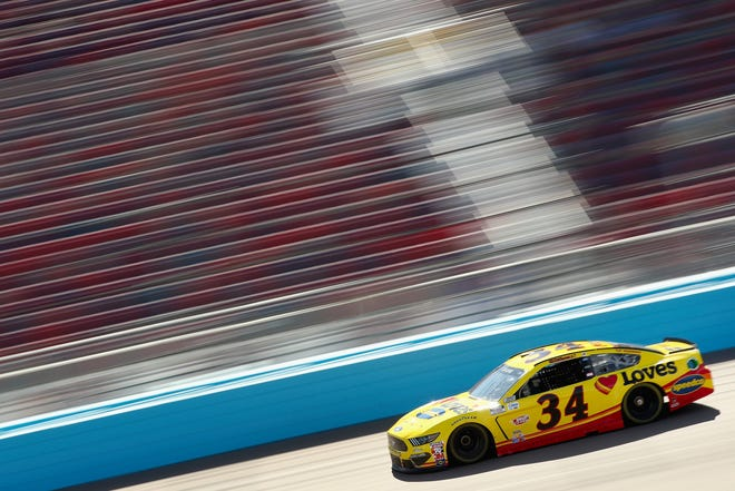 AVONDALE, ARIZONA - MARCH 06: Michael McDowell, driver of the #34 Love's Travel Stops Ford, drives during practice for the NASCAR Cup Series FanShield 500 at Phoenix Raceway on March 06, 2020 in Avondale, Arizona. (Photo by Christian Petersen/Getty Images)