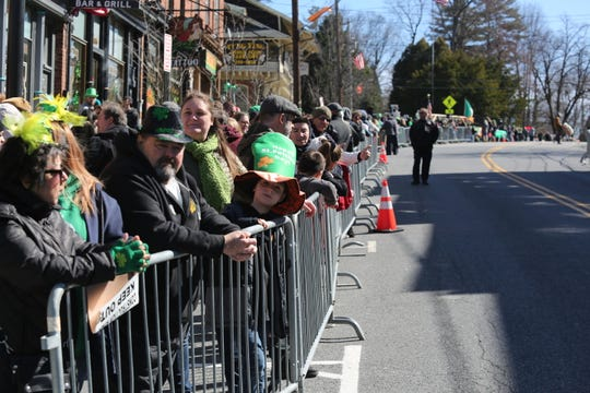 Scenes from the 25th annual St. Patrick's Day Parade in Wappingers Falls on March 7, 2020.