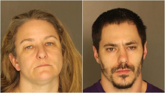 Christine Filbey-Brown (left) and Joseph Stickler (right) face drug-related charges after a search warrant was executed on a Springettsbury Township home.