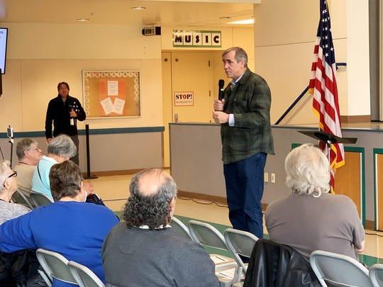 Oregon's U.S. Senator Jeff Merkley held a town hall at Valor Middle School in Woodburn March, 7, 2020.