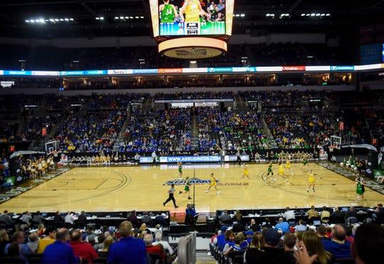 SDSU women play North Dakota during the Summit League tournament on Saturday, March 7, 2020 at the Denny Sanford Premier Center.