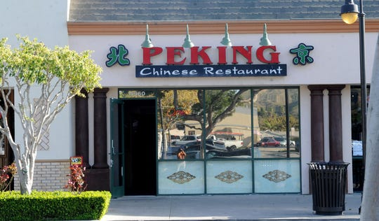 Peking Restaurant is in the Victoria Plaza shopping center at 5960 Telegraph Road in Ventura.