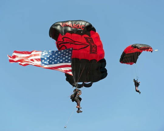 U.S. Army SOC Black Daggers Parachute Team will be featured at the Millville Wheels & Wings Airshow, hosted by the Millville Army Air Field Museum, May 23 and 24.
