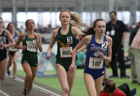 FDR's Sarah Trainor competes in the 1000-meter run during the NYSPHSAA Indoor Track & Field Championships at the Ocean Breeze Athletic Complex in Staten Island on Saturday, March 7, 2020.
