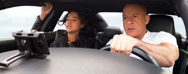 "Michelle Rodriguez and Vin Diesel return for ""F9,"" the ninth installment in the ""Fast and Furious"" saga."
