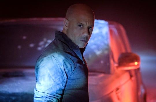 "Super-soldier Ray Garrison (Vin Diesel) fights mercenaries during a high-speed car chase in ""Bloodshot."""