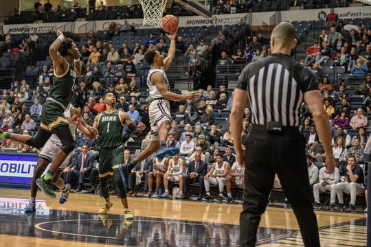 Action from Friday night's Monmouth game against Siena at OceanFirst Bank Center.