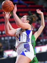 Maine-Endwell defeated Seton Catholic Central with a final score of 58-52 in the Section 4, Class A Girls Basketball Championship at the Broome County Veterans Memorial Arena in Binghamton. Sunday, March 8, 2020.