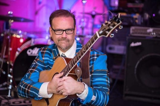 John Moen fronts Stark Raving Plaid, who entertain March 14 at the Admiral Theatre.