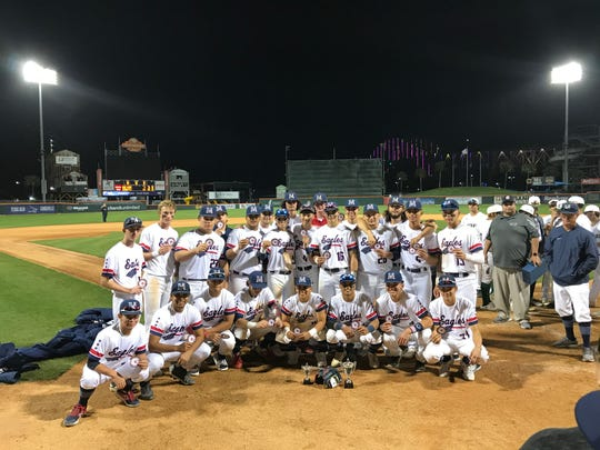 Veterans Memorial completed a dominant run in the annual MIra's South Texas Baseball Classic with an 11-1 win against King at Whataburger Field on Saturday, March 7, 2020.