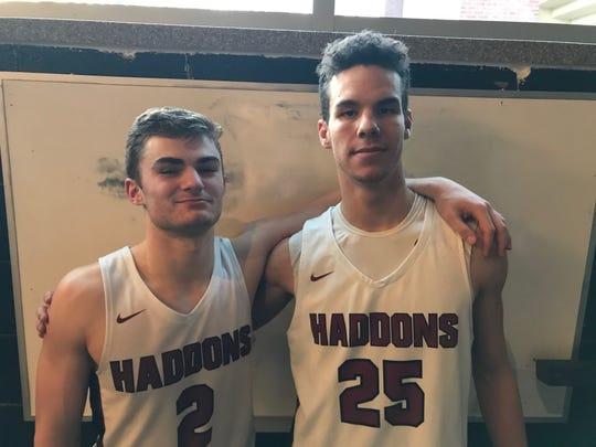 Haddonfield seniors Connor Fell, left, and Ben Cerrato.