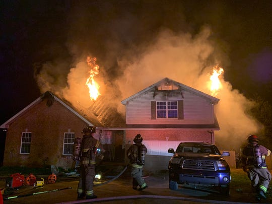 This house on Patricia Drive caught fire Saturday night.