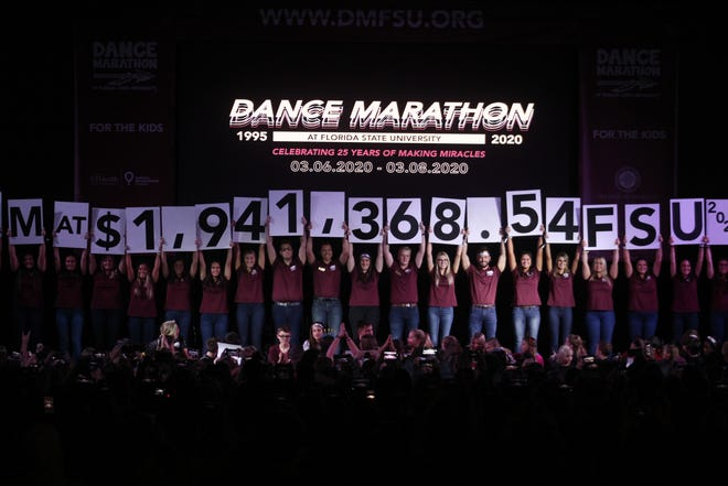 Dance Marathon at FSU raised over $1.9 million for Shands Children's Hospital and the FSU College of Medicine.