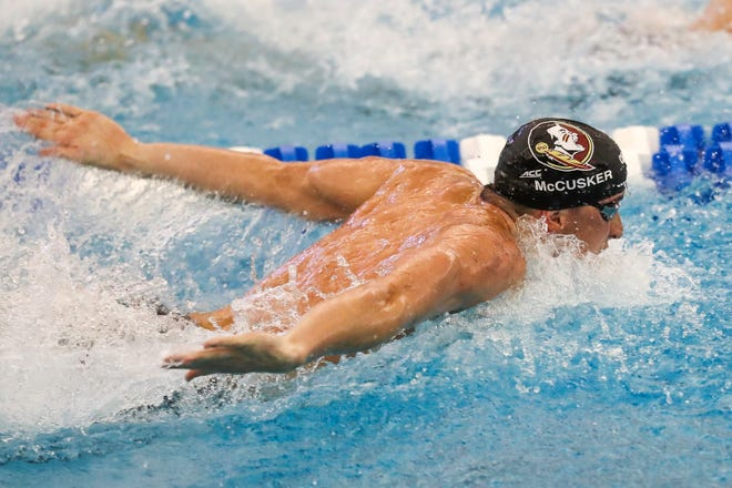 Max McCusker will swim for the 200 and 400 freestyle relay teams in the NCAA Championship in Indianapolis from Mar 25-28.