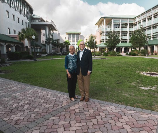 Glenda and Dr. James Llorens at FGCU, where he's served as interim provost.