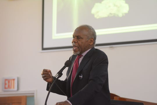 Actor Danny Glover stumped for presidential candidate Bernie Sanders at New Mt. Zion Missionary Baptist Church in Jackson, MS., on Sunday, March 8, 2020.
