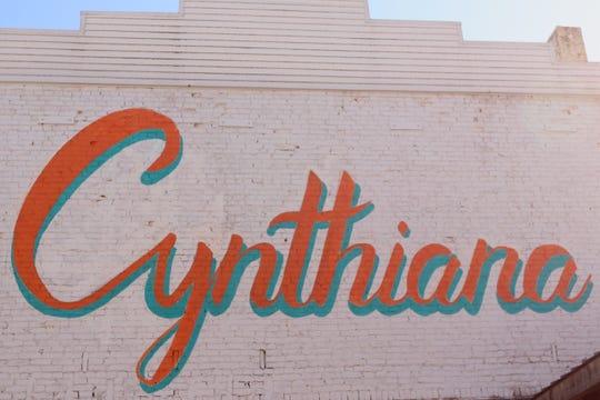 A mural in downtown Cynthiana, Kentucky.