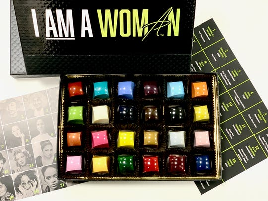 """The Phillip Ashley Chocolates """"I AM A WOMAN"""" collection."""