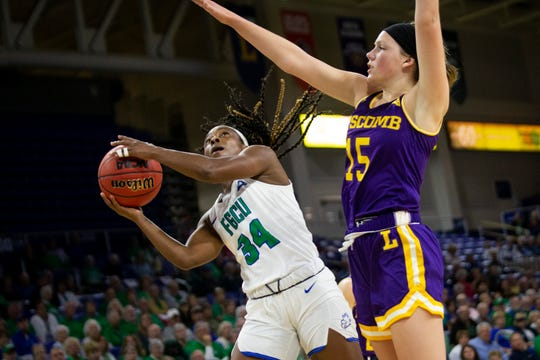 The FGCU women's basketball team beat Lipscomb University 105 to 71 in an ASUN Tournament quarterfinal at FGCU in Estero on Saturday, March 7.