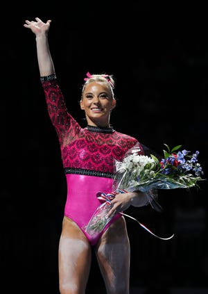 MyKayla Skinner of Gilbert/Desert Lights was second all-around at Gymnix International in Montreal in her return to international elite competition.