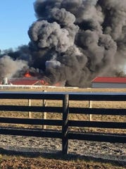 Fifteen horses died in a fire at a barn in Bethel Township, Lebanon County on Saturday afternoon. The barn is on the property of a thoroughbred horse training facility.