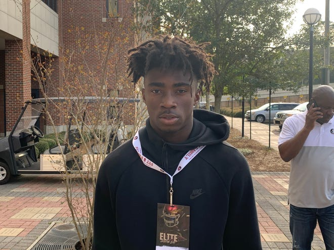 Three-star cornerback Kevin Knowles II on his junior day visit to FSU on March 7, 2020.