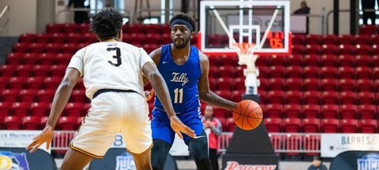 TCC guard Tariq Silver scored 10 in a losing effort versus Gulf Coast State College in the Region VIII championship game on March 7, 2020 in Niceville.