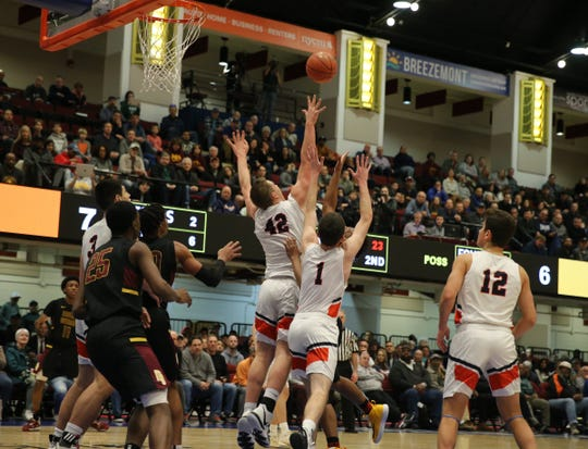 Horace Greeley defeats Mount Vernon 46-36 to claim the boys Class AA title at the Westchester County Center in White Plains on Sunday, March 8, 2020.