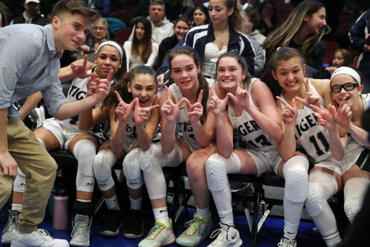Putnam Valley defeated Irvington 52-49 in the girls Class  B final at the Westchester County Center in White Plains March 7, 2020.