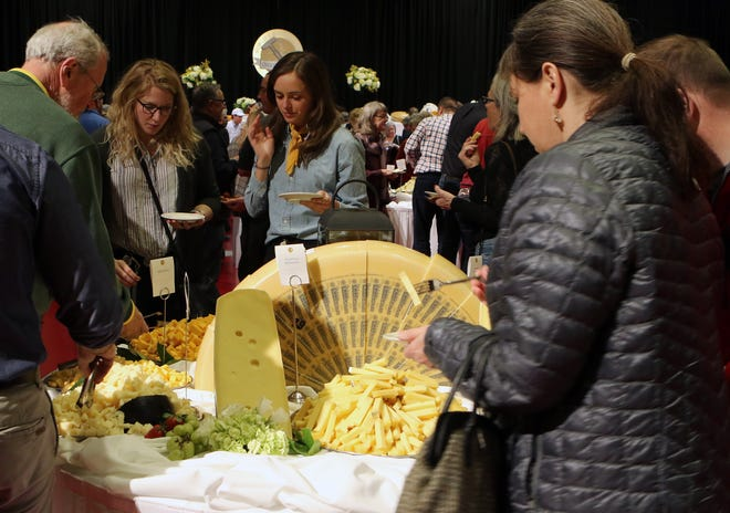 Mounds of cheese greeted attendees to the evening reception at the World Championship Cheese Contest on March 5, 2020, where the winning cheese, MA Gruyere from Bern, Switzerland, was named the 2020 World Champion Cheese.