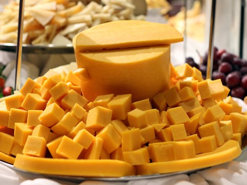 There was no shortage of cheese to sample at the World Championship Cheese Contest on March 5, 2020.