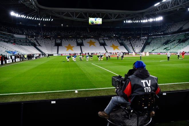 A view of the empty Juventus stadium.