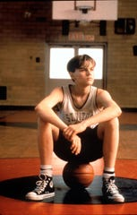 "Leonardo DiCaprio plays a high school basketball player who gets involved in drugs and crime in ""The Basketball Diaries."""