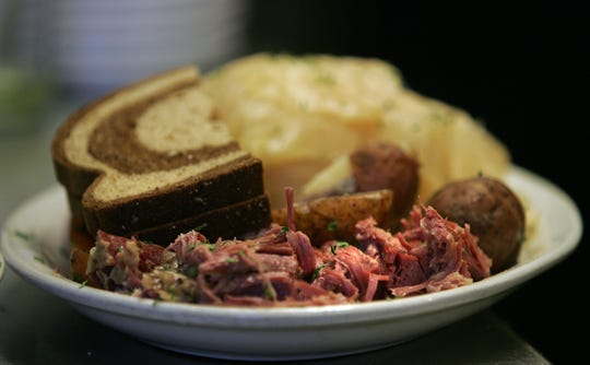 Corned beef, cabbage, rye and potatoes will begin appearing on Fox Cities menus starting Thursday. Here, a plate of Irish favorites from Spats on a past St. Patrick's Day.