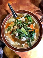 Thai street noodle soup at Thai Pearl, which recently opened in West Asheville.