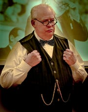 """Winston Churchill impersonator Randy Otto will stop at the Schorr Family Firehouse Stage to perform """"Winston Churchill: The Blitz"""" Saturday evening."""