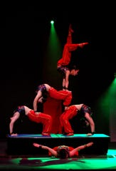 Peking Acrobats demonstrate their dexterity March 17 at the Flynn Center.