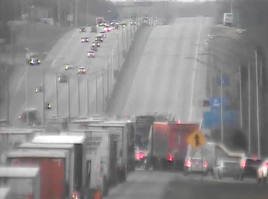 I-71/75 South at MM 177.0 approaching the Rest Area in Boone County.