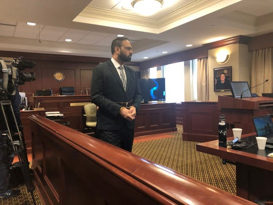 Gurapreet Singh enters theButler County Common Pleas Judge Gregory Howard's courtroom for a hearing March 6.