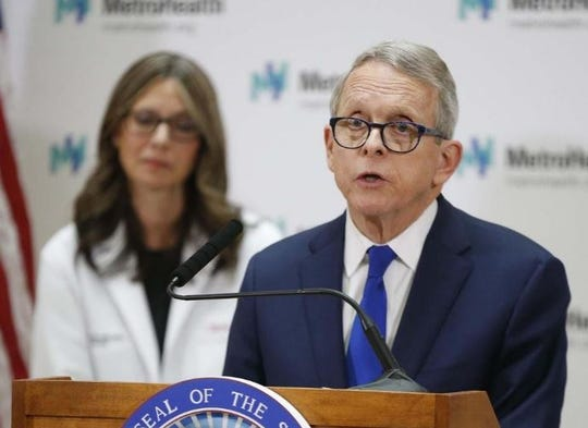Gov. Mike DeWine and the Ohio Department of Health Director Dr. Amy Acton.