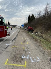 Florence emergency crews and police were on the scene of a multi-vehicle crash Monday that killed one and injured two others.