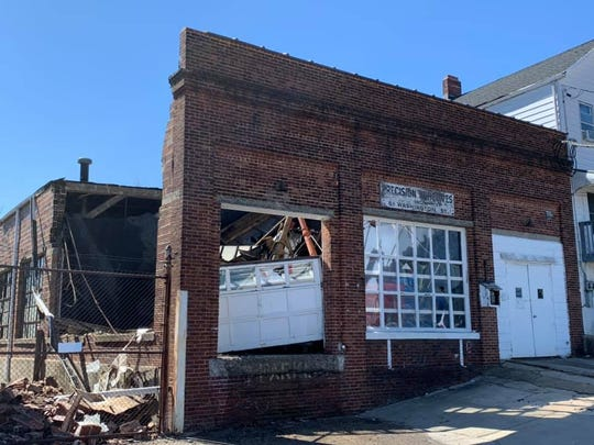The roof of a commercial building in Perth Amboy collapsed on Monday.